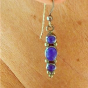 Sterling silver with blue lapis earrings